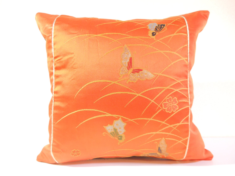 Japanese Silk Kimono Obi Pillow 466 Decorative Pillow