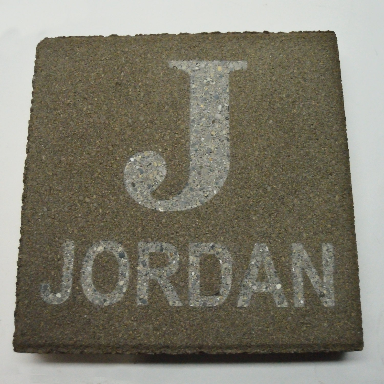 Initial Personalized Engraved Stepping Stone