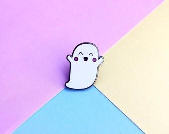 Ghosty Enamel Lapel Pin | Cute kawaii pin hat badge