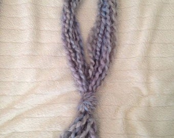 Chunky Yarn Necklace/Scarf Baby Blue