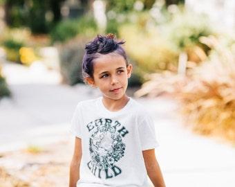 Earth Child tee shirt in organic triblend cream