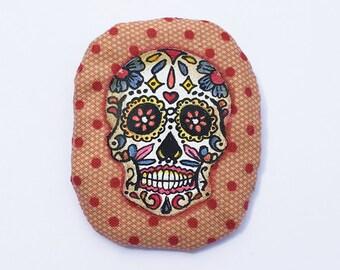 PIN Calavera, handpainted on fabric