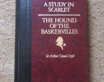 Sherlock Holmes A Study in Scarlet The Hound of the Baskervilles by Sir Arthur Conan Doyle Reader's Digest 1990