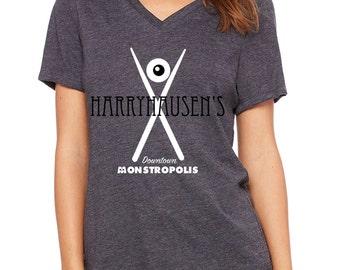 Disney Shirts Womens Monsters Inc Shirt Harryhausen's Shirt Mike and Sulley Shirt Monsters Incorporated Shirt Disneyland Shirt Disney World