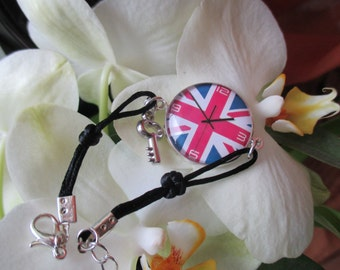 Cotton, cabochon image watch London bracelet