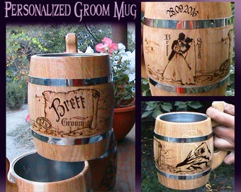 Personalized Groom Beer Mug Wedding Gift For From Bride Grooms