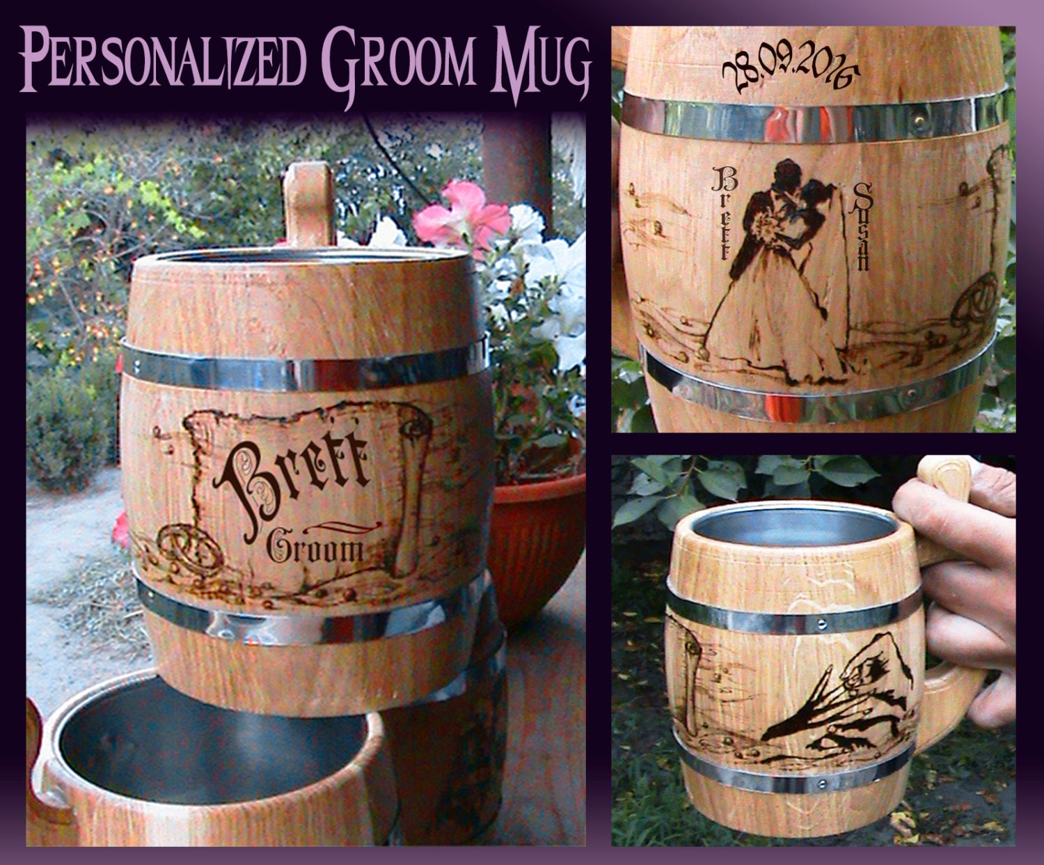 Personalized Groom Beer Mug/Wedding Gift For Groom From