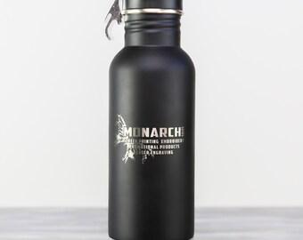 120z Matte Black Bottle Armour