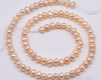 4-5mm pink small pearls, freshwater pearl beads, potato oval shape natural real pearls, high luster pearls for jewelry making, FP250-PS