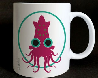 "mug ""les Grozeuil"" Gaspard the squid"