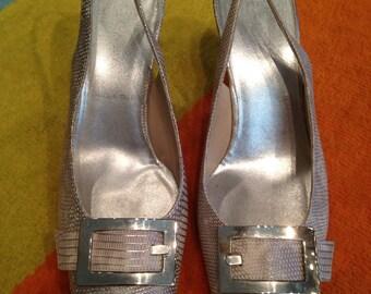 ESCADA - Sandals leather silver + loop