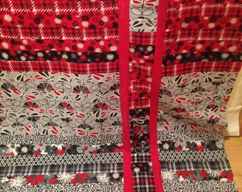 Red, Gray, Black and White Quilt