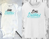 Little Brother, Big Brother  SET One Piece/Bodysuit and Toddler Shirt