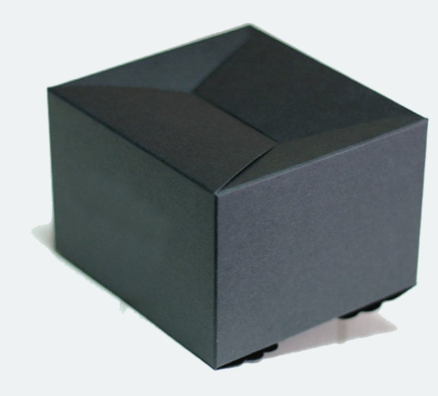 5 black scallop boxes bridal shower favor boxes gift for Black box container studios