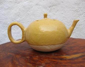Handmade tea. Refractory ceramic. Handmade ceramic teapot. Pottery