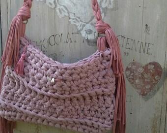Crochet Pocket trapillo.