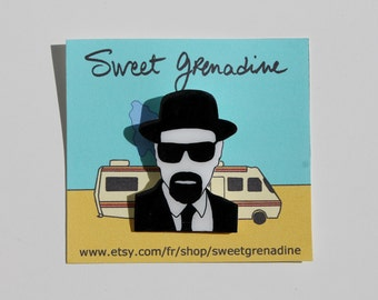 "Breaking Bad ""Heisenberg"" Shrink Plastic Brooch"