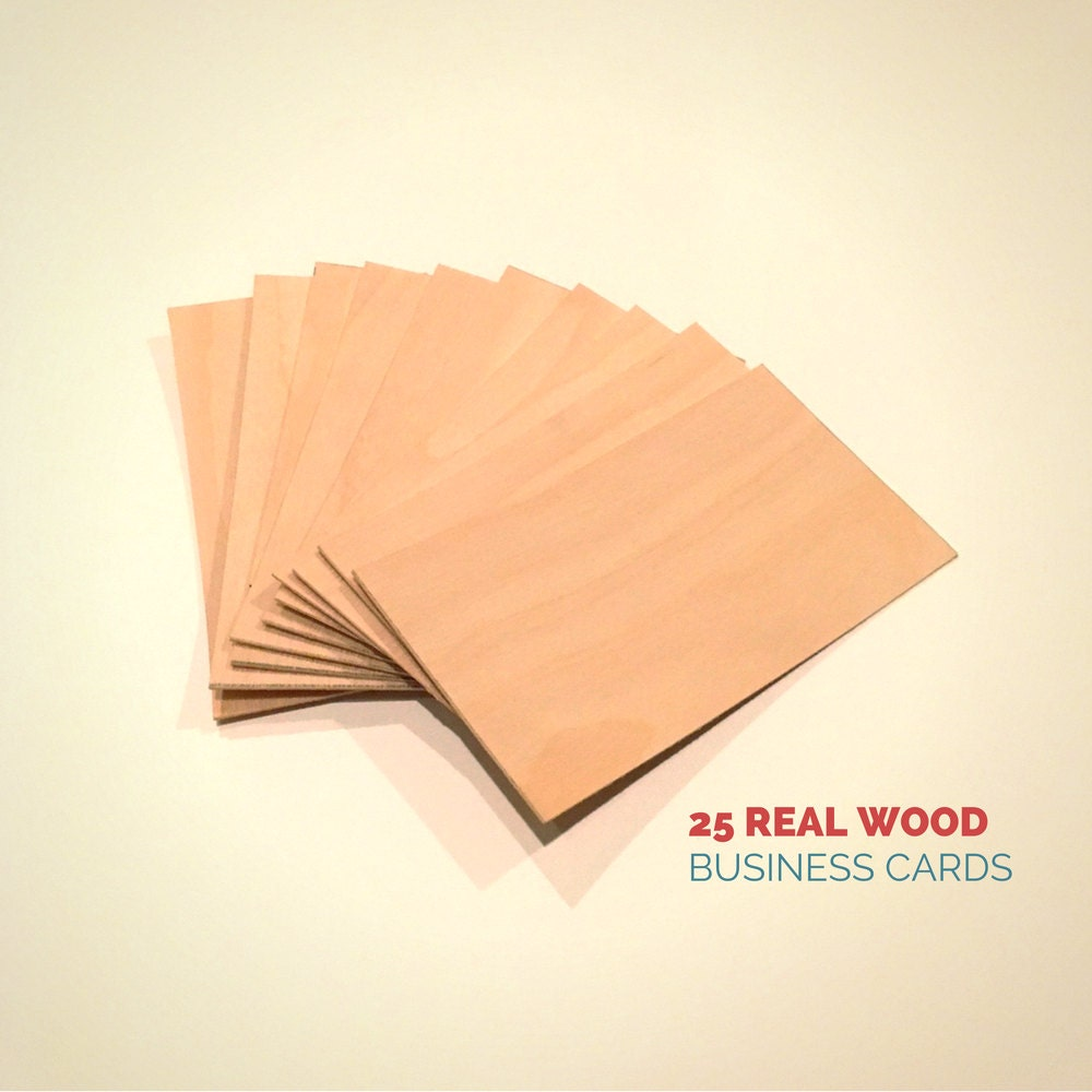 Blank Wood Cards - Set of 25 - Wood Business Cards