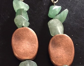 Natural stone with copper accented bead