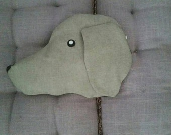 Cherry pit pillow of Weimaraner taupe