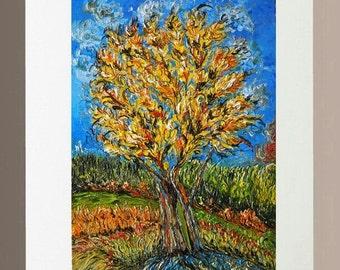 Original Oil Painting - Autumn Tree