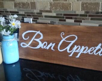 Bon Appetit wood sign