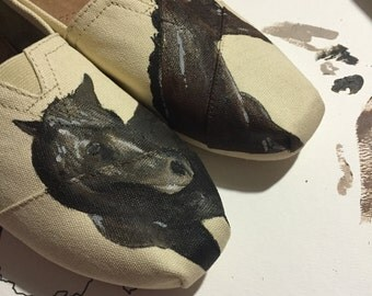 Custom Hand-Painted Horse Toms