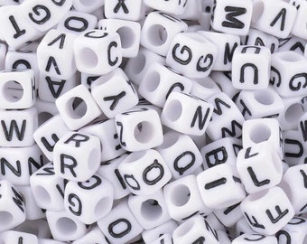 Personal accessories (name or other) - letters of alphabet plastic