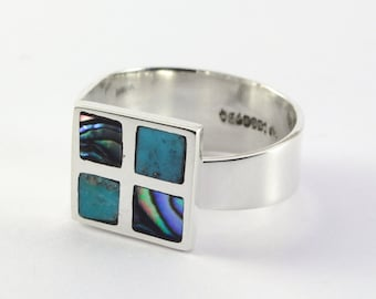 Sterlinf Silver adjustable Ring Lagoon