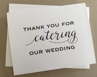 Thank you card to your Wedding Caterer,A2 Wedding Day Cards(WDC-PR09)