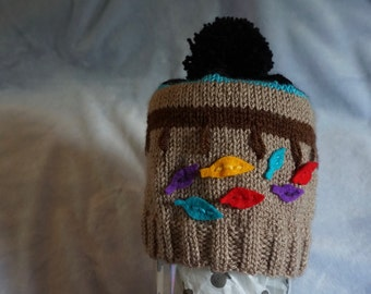 Pocahontas Inspired Hand Knit Hat