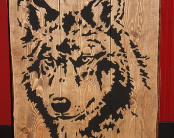 Wolf Pallet Sign
