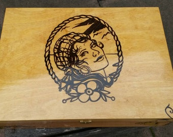 Wooden box jewelry boxes Gypsy