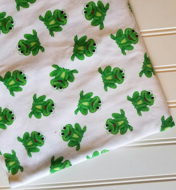 Marcus Brothers Fabric By The Yard Frogs Green Cotton