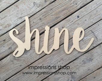Shine Word Cutout