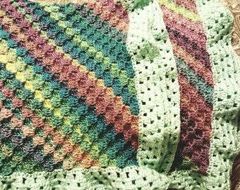 Soft Crochet Baby Blanket, Afghan
