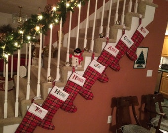 Personalized Cross-Stitch Custom Christmas Stockings