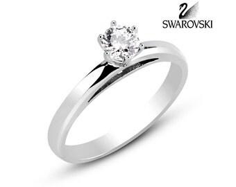 Swarovski Solitaire Ring R1299WW