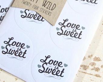 Love Is Sweet Stickers Pk24