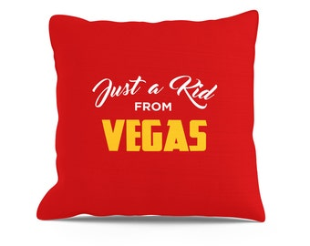 Just a Kid From Vegas Pillow, Couch Throw, Toss Pillows, Toss Pillow, Decorative Throw, 18x18 Pillow, Las Vegas Pillow, Vegas Pillow