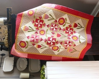 Garden Party Quilted Wallhanging
