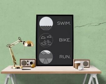 Minimal Triathlon Poster
