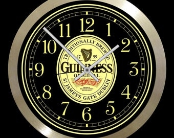 "Guinness Large 10"" wall clock"