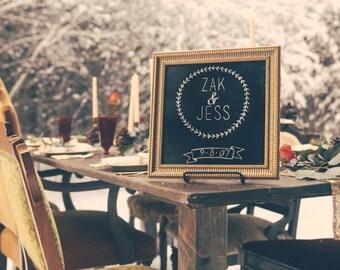 Vintage Chalk Wedding Sign-Chalkboard Frame-Wedding Decor-Chalk Signs-