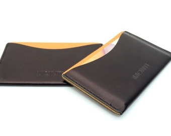 Card Factory, Business Card Holders, Leather case for business cards and credit cards, Black