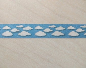 Clouds & Sky washi tape - 1 full roll - 15mm x 10 m