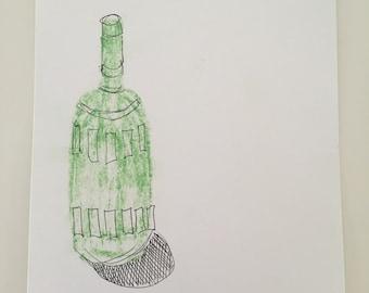 Green Bottle (original drawing)