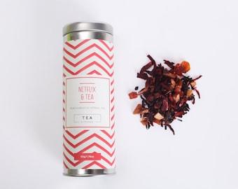 Netfl!x & Tea - Peach Hibiscus Herbal Tea