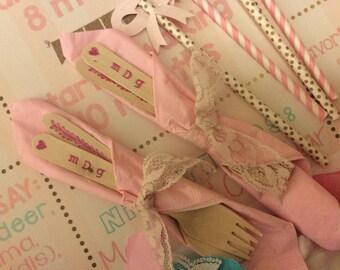 Custom Stamped Bamboo Cutlery