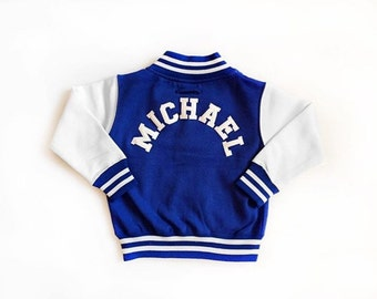 Kids Personalised Varsity Jacket